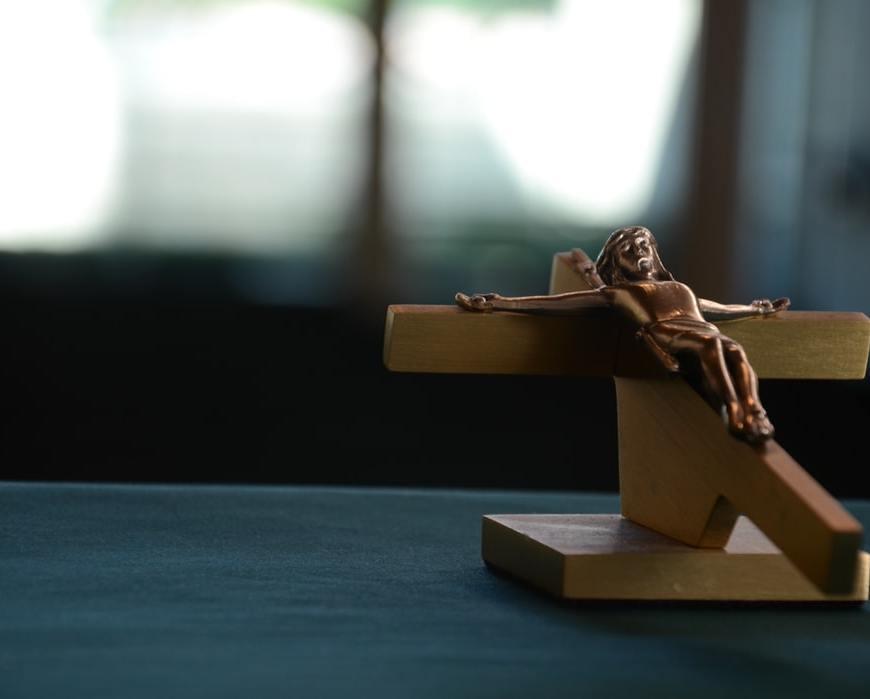 Fallen crucification
